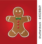vector gingerbread cookie | Shutterstock .eps vector #64028869