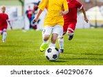 running youth soccer football...   Shutterstock . vector #640290676