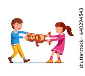 kids girl and boy brother  ... | Shutterstock .eps vector #640294543