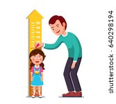 kindergarten teacher or father... | Shutterstock .eps vector #640298194