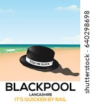 blackpool  england kiss me... | Shutterstock . vector #640298698