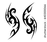 tattoo tribal vector design.... | Shutterstock .eps vector #640300066