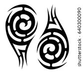 tattoo tribal vector designs... | Shutterstock .eps vector #640300090