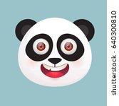 cute giant panda head. vector... | Shutterstock .eps vector #640300810