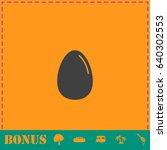 egg illustration icon flat....