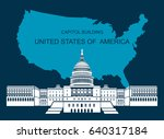 usa capitol building. editable... | Shutterstock .eps vector #640317184