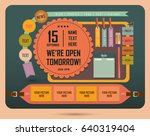 vintage web design elements | Shutterstock .eps vector #640319404