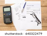 electricity bill charges paper... | Shutterstock . vector #640322479