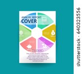 a4 business flyer template with ... | Shutterstock .eps vector #640323556