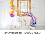 decorations for holiday party.... | Shutterstock . vector #640327660