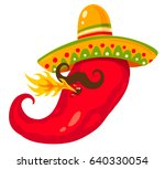 vector illustration of a chili... | Shutterstock .eps vector #640330054