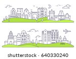 vector illustration of two... | Shutterstock .eps vector #640330240