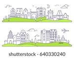 vector illustration of two... | Shutterstock .eps vector #640330240