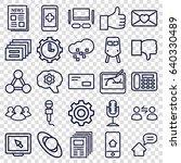 communication icons set. set of ... | Shutterstock .eps vector #640330489