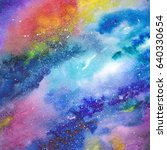 space background. watercolor... | Shutterstock . vector #640330654
