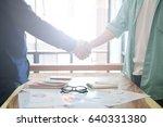 businessman handshake for... | Shutterstock . vector #640331380