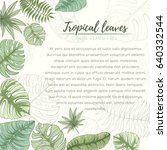 hand drawn tropical palm leaves ... | Shutterstock .eps vector #640332544