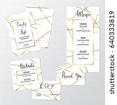 wedding geometric invite design ... | Shutterstock .eps vector #640333819