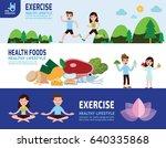 helathy lifestyle vector  | Shutterstock .eps vector #640335868