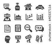tax icon | Shutterstock .eps vector #640337116