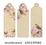 set of decorative tags or...