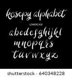 kosepy vector alphabet... | Shutterstock .eps vector #640348228