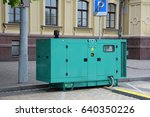 diesel generator for emergency... | Shutterstock . vector #640350226