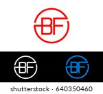 bf logo. letter design vector...