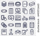 pad icons set. set of 25 pad... | Shutterstock .eps vector #640351663