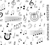 seamless pattern of hand drawn... | Shutterstock .eps vector #640353958