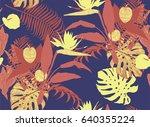seamless vintage style pattern...   Shutterstock .eps vector #640355224