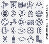 coin icons set. set of 25 coin... | Shutterstock .eps vector #640355278