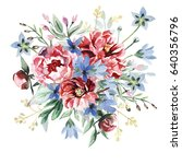 flower bouquet | Shutterstock . vector #640356796