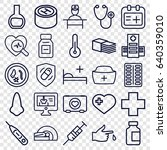 medical icons set. set of 25... | Shutterstock .eps vector #640359010