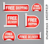free shipping and free delivery ... | Shutterstock . vector #640359319