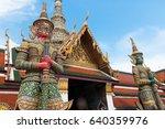 demon guardian in wat phra kaew ... | Shutterstock . vector #640359976