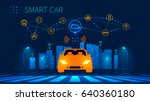 smart car wireless network... | Shutterstock .eps vector #640360180