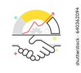 color box icon  handshake... | Shutterstock .eps vector #640362094