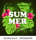 summer background with red... | Shutterstock .eps vector #640366690