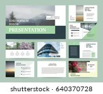 original green presentation... | Shutterstock .eps vector #640370728