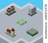 isometric architecture set of... | Shutterstock .eps vector #640371478