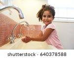 female pupil at montessori...   Shutterstock . vector #640378588