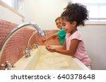 pupils at montessori school...   Shutterstock . vector #640378648