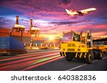 logistics and transportation of ... | Shutterstock . vector #640382836