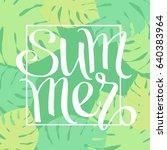 summer  hand paint vector... | Shutterstock .eps vector #640383964