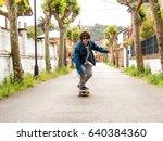 skateboarding boy   Shutterstock . vector #640384360