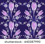 oriental seamless pattern of... | Shutterstock .eps vector #640387990