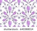 oriental seamless pattern of... | Shutterstock .eps vector #640388014