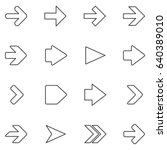 vector arrow icons on white