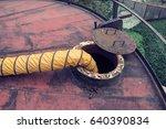 blower fresh air into oil... | Shutterstock . vector #640390834